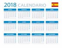 Kalendarz 2018 - Spanush wersja Fotografia Stock