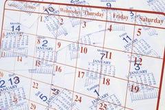 kalendarz strony fotografia stock