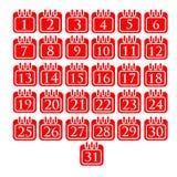 Kalendarz wakacje ilustracji