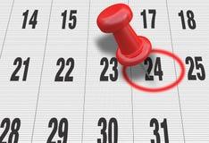 Kalendarz z czek oceną Zdjęcia Royalty Free
