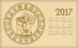 Kalendarz 2017 z majowia symbolics ilustracja wektor