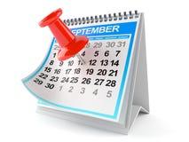 Kalendarz z thumbtack Obraz Stock