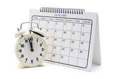 kalendarza alarmowy zegar zdjęcia royalty free