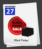 Kalendarza pokazywać 27th Listopad Fotografia Stock