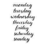 Kalendarza set Set dni tydzień Zdjęcie Stock