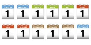 kalendarze Obrazy Stock