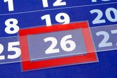kalendarzowa błękit czerwień Zdjęcie Stock