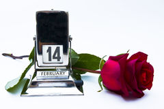 kalendarzowa czerwień wzrastał Obrazy Royalty Free