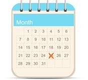 Kalendarzowa ikona Zdjęcie Royalty Free