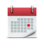 Kalendarzowa ikona Fotografia Stock