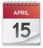 kalendarzowa ikona Obrazy Stock