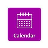 Kalendarzowa ikona dla sieci i wiszącej ozdoby Zdjęcie Royalty Free
