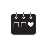 Kalendarzowa ikona, ilustracja Płaski projekta styl Obraz Stock