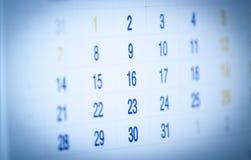 Kalendarzowa strona Zdjęcia Royalty Free