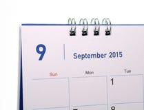 Kalendarzowa strona miesiąc 2015 Fotografia Royalty Free