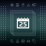 Kalendarzowa symbol ikona Zdjęcie Stock