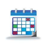 Kalendarzowa Wakacyjna ikona Fotografia Royalty Free