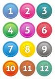 Kalendarzowe ikony Zdjęcia Stock