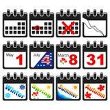 Kalendarzowe ikony Fotografia Stock