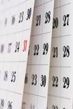 Kalendarzowe strony Zdjęcie Stock