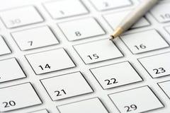 kalendarzowego 2 długopis Obrazy Royalty Free