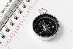 kalendarzowego agendy kompas. Zdjęcie Stock