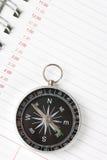 kalendarzowego agendy kompas. Fotografia Royalty Free
