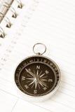 kalendarzowego agendy kompas. zdjęcia stock