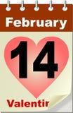 kalendarzowego dzień s valentine Zdjęcie Royalty Free