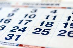 Kalendarzowego miesiąca strona Obrazy Royalty Free