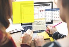 Kalendarzowego planisty organizatora notatki Planistyczny pojęcie Obrazy Stock
