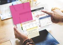 Kalendarzowego planisty organizatora notatki Planistyczny pojęcie Zdjęcie Stock