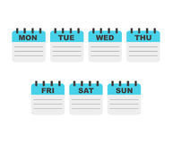 Kalendarzowego tygodnia planista Zdjęcie Stock