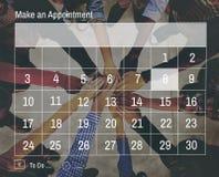 Kalendarzowej agendy spotkania notatki Nominacyjny pojęcie Obrazy Stock