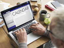 Kalendarzowej daty organizatora planisty pojęcie Obraz Royalty Free