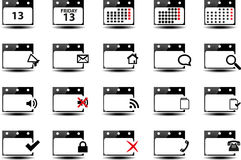 Kalendarzowi symbole Fotografia Stock