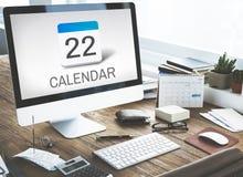 Kalendarzowy agendy spotkania przypomnienia rozkładu grafiki pojęcie Zdjęcia Stock