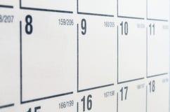 kalendarzowy biel Zdjęcia Royalty Free