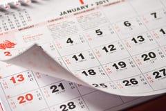 kalendarzowy chińczyk Zdjęcia Stock