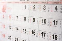 kalendarzowy chińczyk Zdjęcie Stock