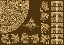 Kalendarzowy czerep antyczne cywilizacje Obraz Royalty Free