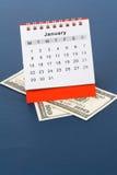kalendarzowy dolar Zdjęcia Stock