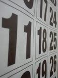 Kalendarzowy dzień dniem z dużymi czarnymi listami Fotografia Stock