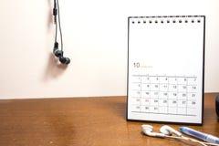 Kalendarzowy dzień w Październiku 2017 Zdjęcie Stock
