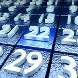 22 kalendarzowy dzień i spotkania Obrazy Royalty Free