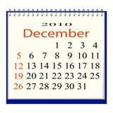 kalendarzowy Grudzień wizerunku wektor royalty ilustracja