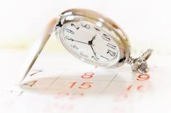 kalendarzowy kieszeniowy zegarek zdjęcie stock