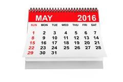 Kalendarzowy Maj 2016 Zdjęcie Stock