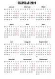 2019 kalendarzowy Niemiecki język obraz royalty free