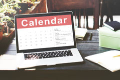 Kalendarzowy Nominacyjny spotkanie daty pojęcie Obraz Stock